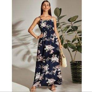 Dresses & Skirts - Floral Print Maxi Cami Dress